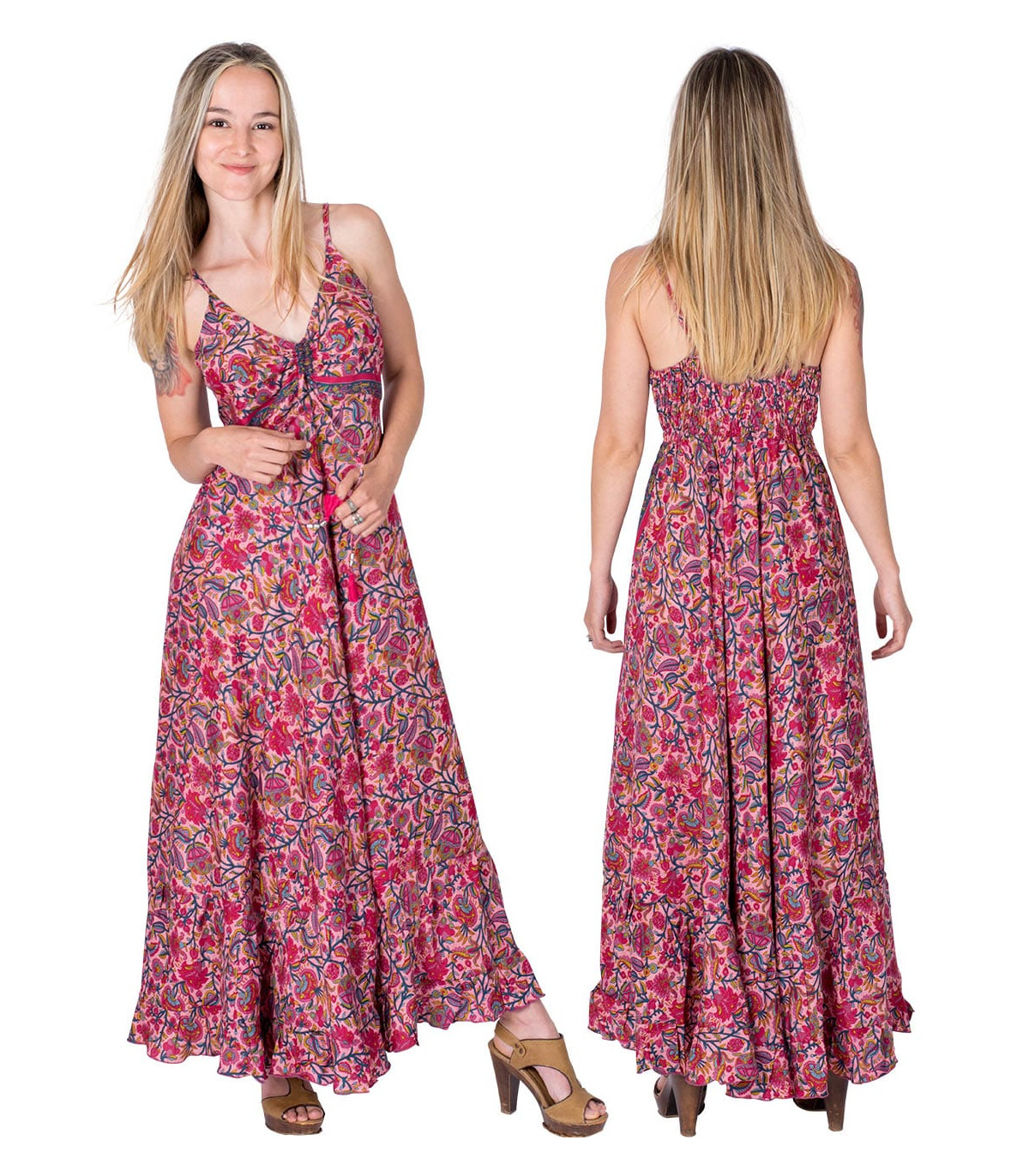 Bohemian style maxi dress | Ethnic print dress