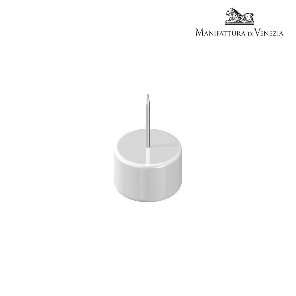 Portaspiedino rotondo bianco + spiedino basso | Finger Food