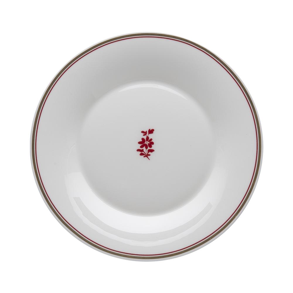 Piatto dessert cm 22 | Feston e Cadena Rosso