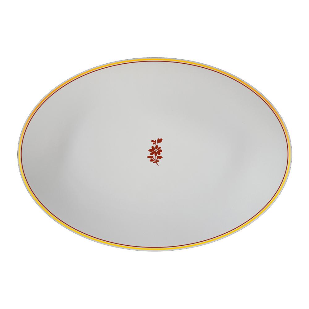 Piatto ovale cm 37 | Feston e Cadena Rosso