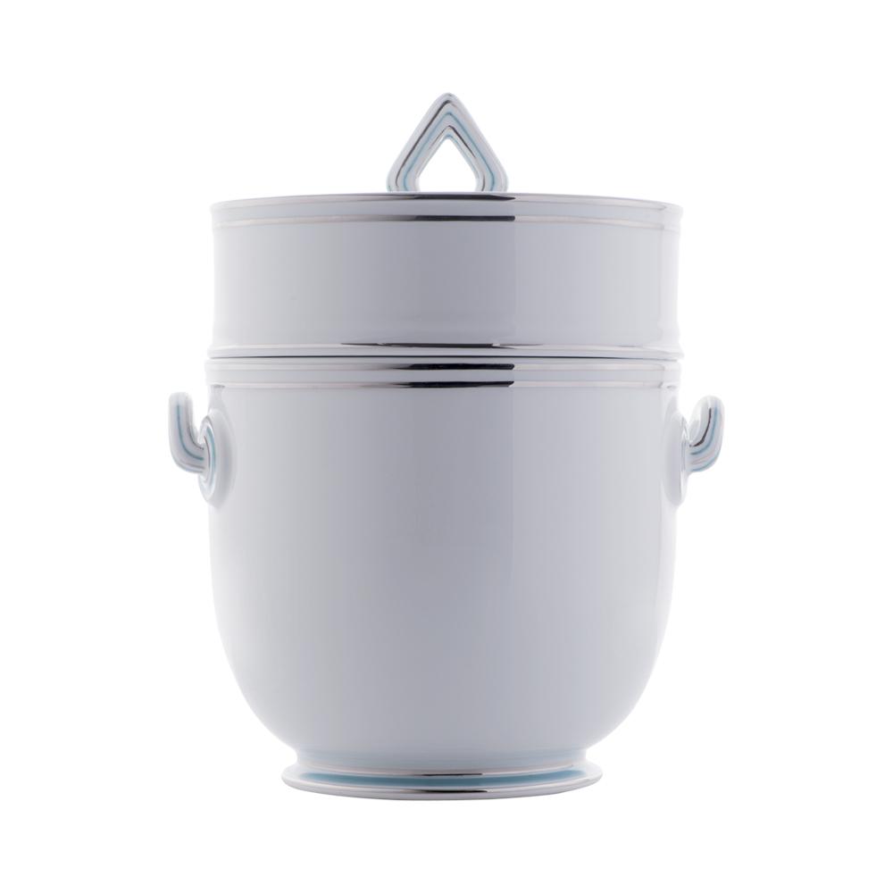 Rinfrescatoio vaso da giacio | Fili platino e azzurro
