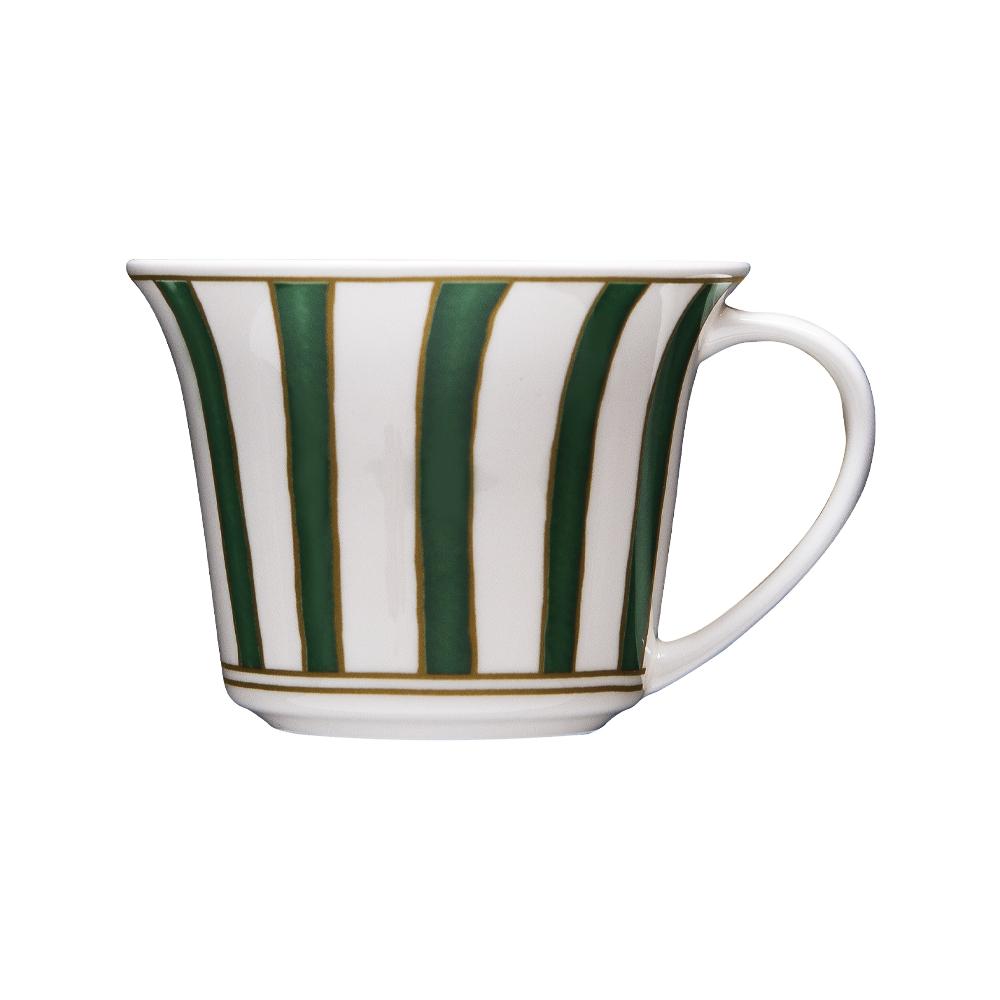 Tazza thè e cappuccino cc 250 | Striche Verdi e Oro