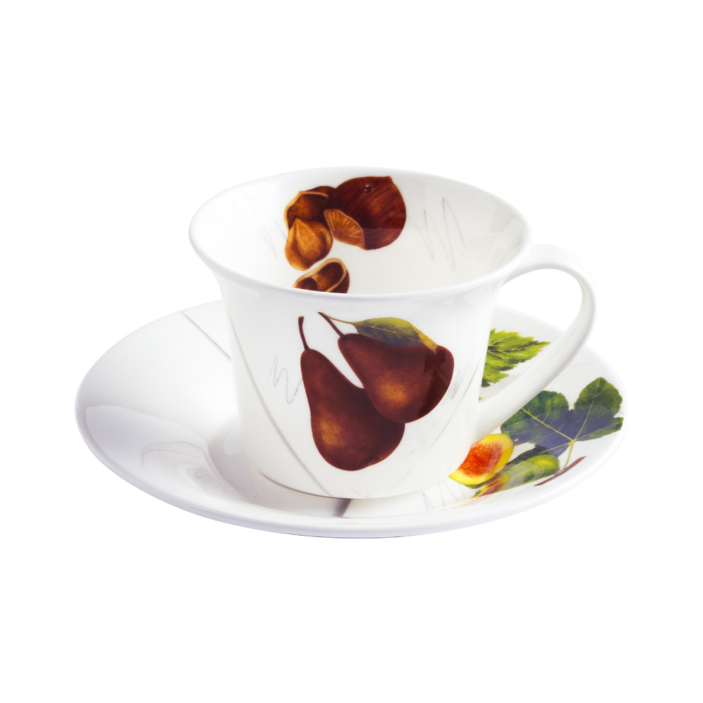 Tazza thè e cappuccino con piattino cc 250 | Vegan | La Cucina Italiana