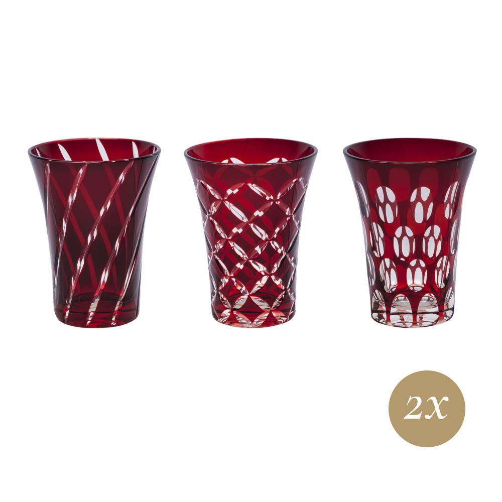 Set 6 bicchieri rosso | Twins