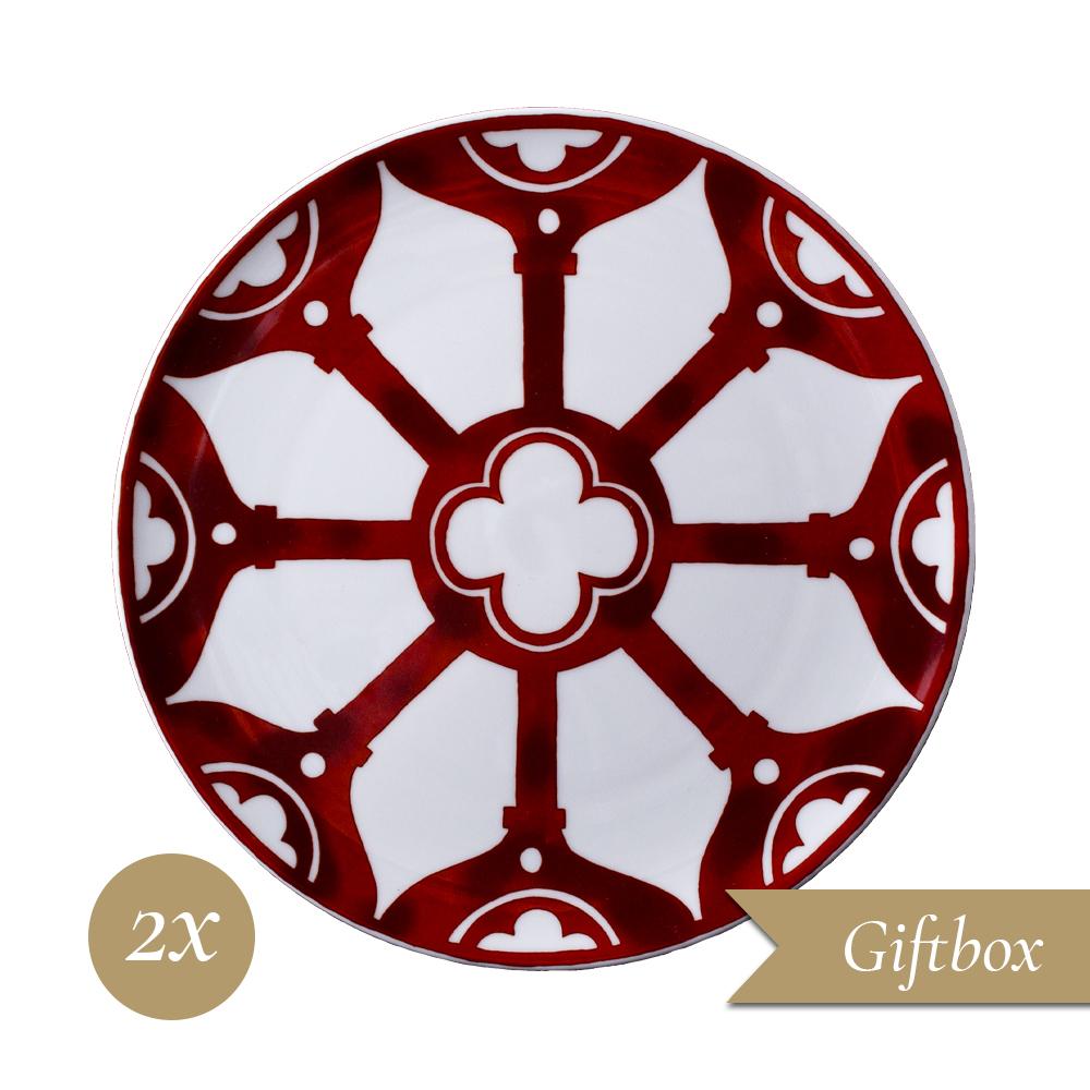 Set 2 piatti dessert cm 22 in Giftbox GCV | Le loze dei bei palassi | Venezia 1600