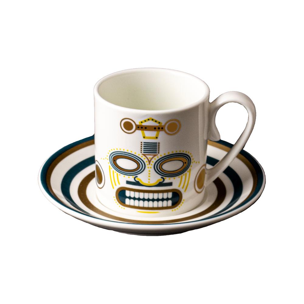 Tazza caffè cc 130 con piattino cm 12 | Quiriguë | Ethnics