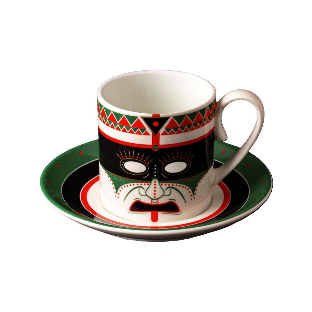 Tazza caffè cc 130 con piattino cm 12 | Paha Sapa | Ethnics