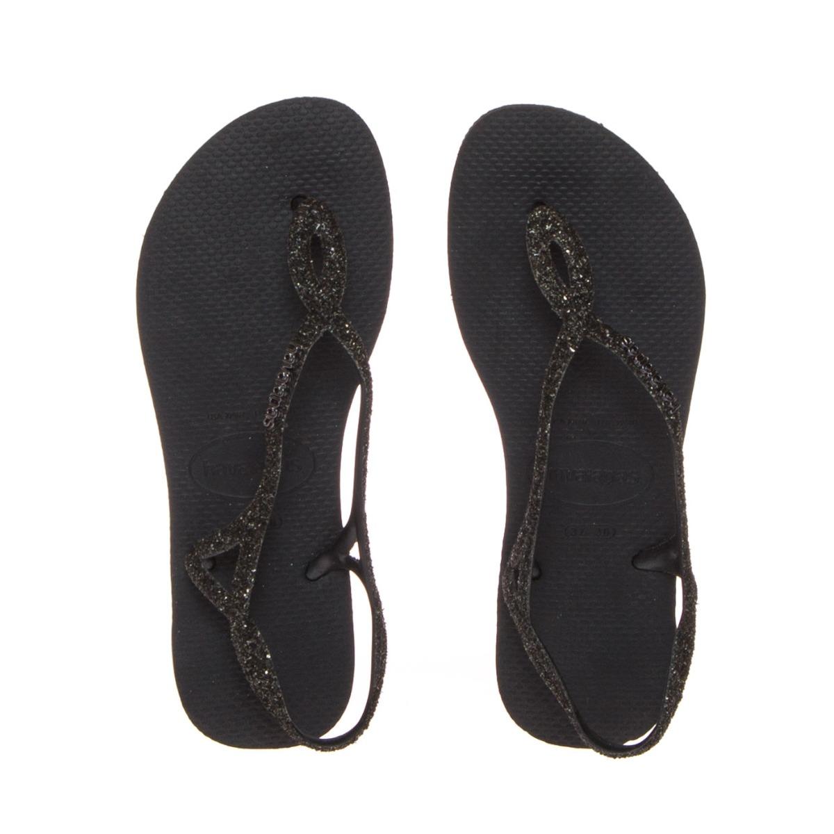 Havaianas Sandalo Donna 4144378-90 Luna Premium Nero Glitter