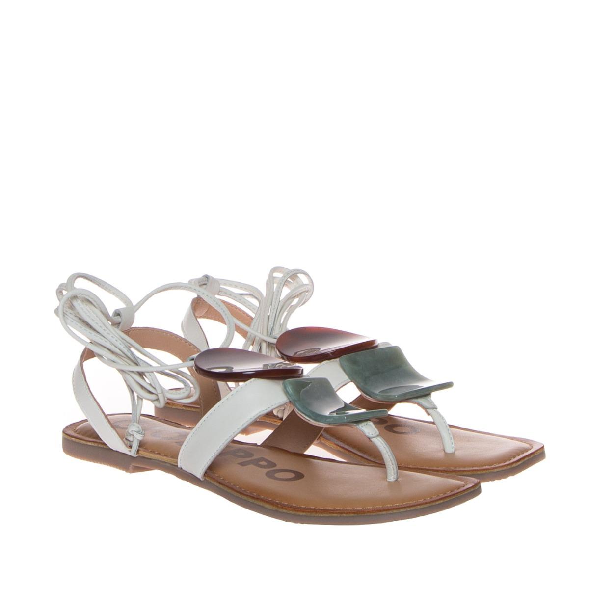 Gioseppo 58775 Sandalo Donna Bianco Pietre