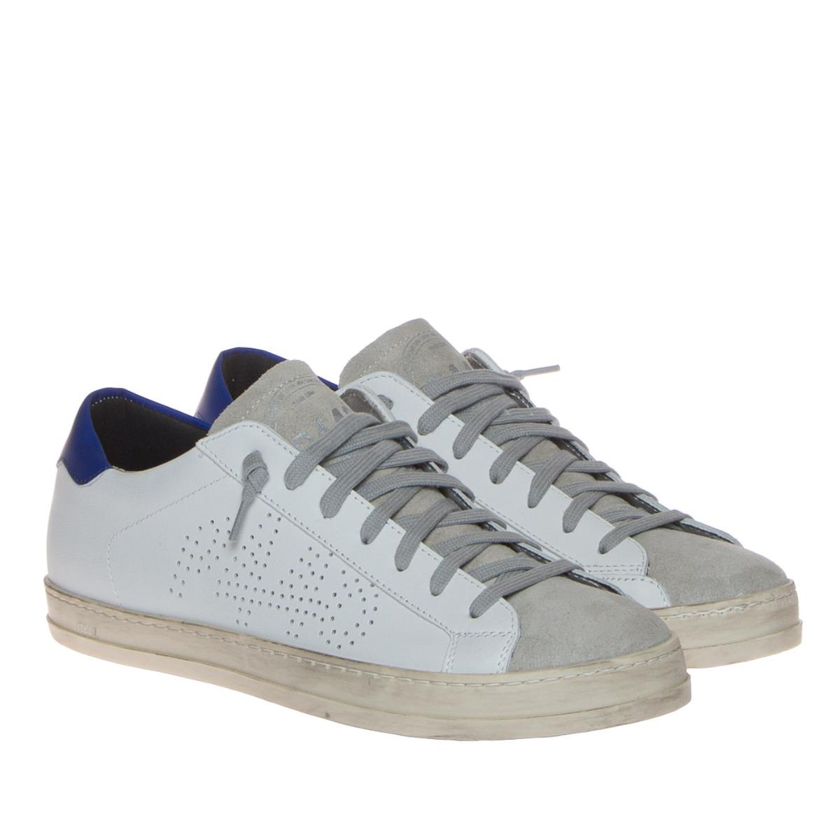 P448 Sneakers Uomo John Vegan Tallone Bluette