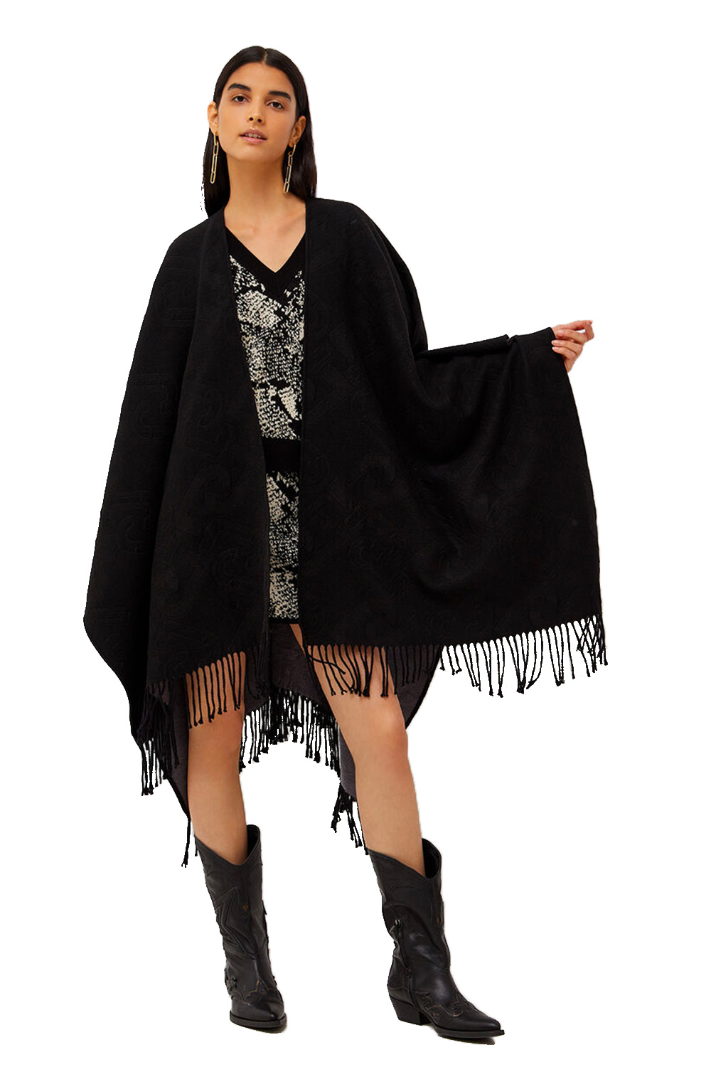 Poncho Double Face