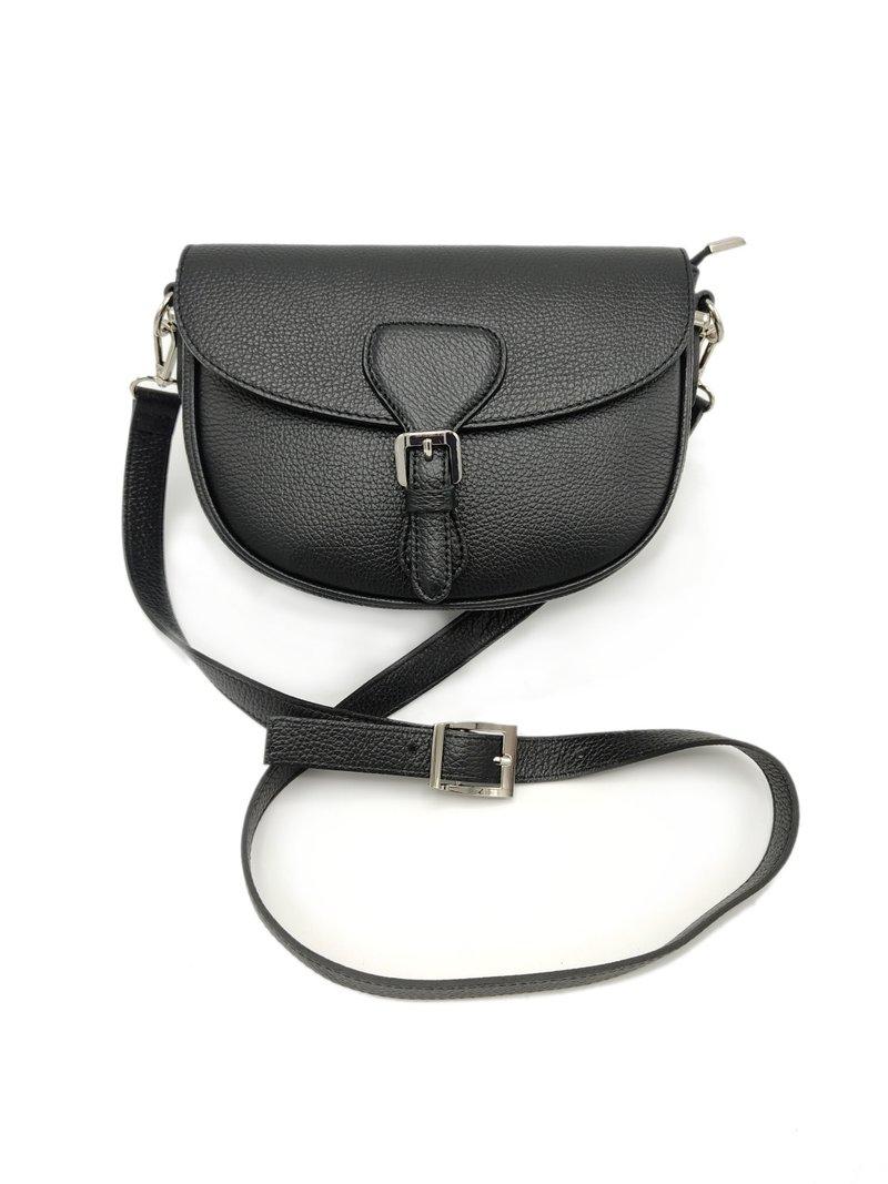Petit sac en cuir pour femmes - couleur noire
