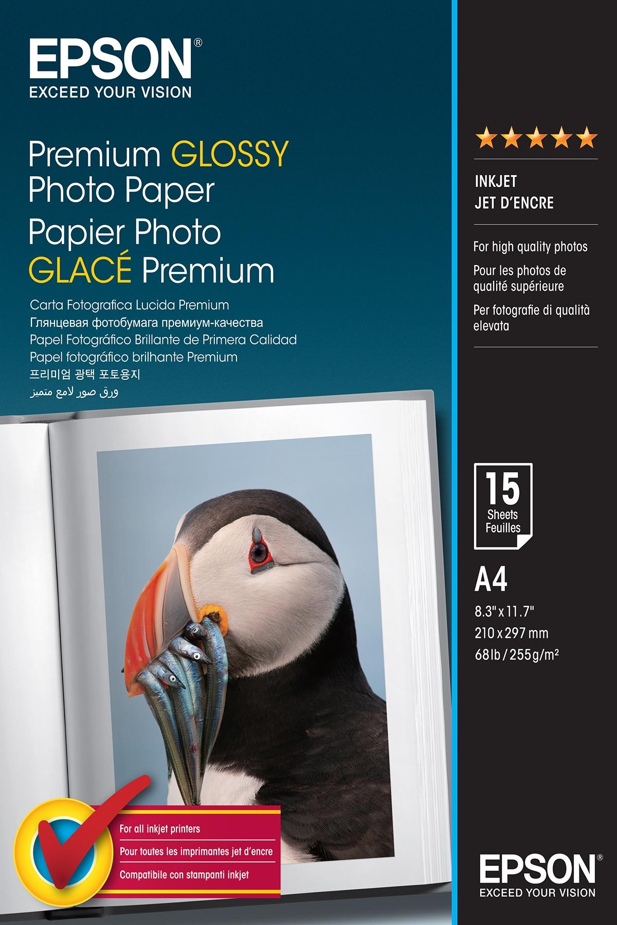 Epson Premium Glossy Photo Paper - A4 - 15 Fogli