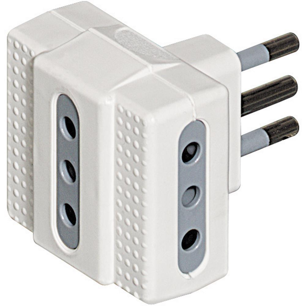 bticino S3603D adattatore per presa di corrente Grigio, Bianco