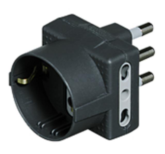 bticino S3611G adattatore per presa di corrente Tipo L (IT) Tipo L (IT) + Tipo F Antracite
