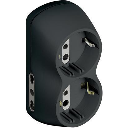 bticino S3614G adattatore per presa di corrente Antracite