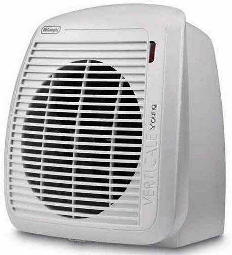 DeLonghi HVY1020.W stufetta elettrica Interno Bianco 2000 W Riscaldatore ambiente elettrico con ventilatore