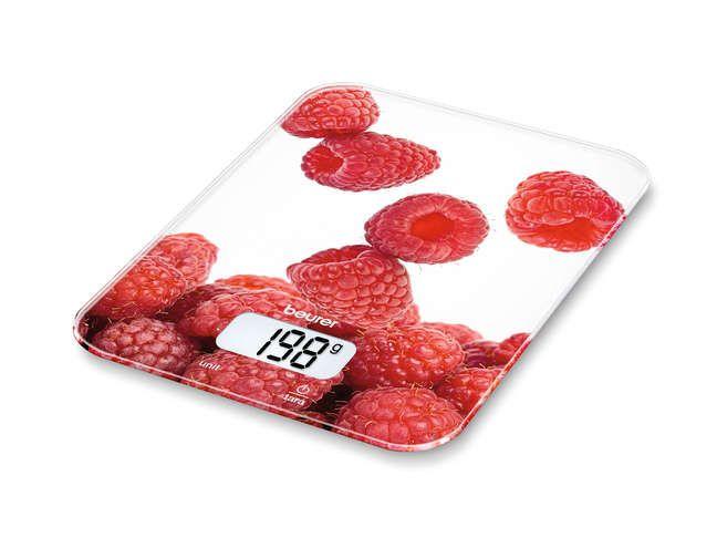 Beurer KS19 Berry Rosso, Bianco Rettangolo Bilancia da cucina elettronica
