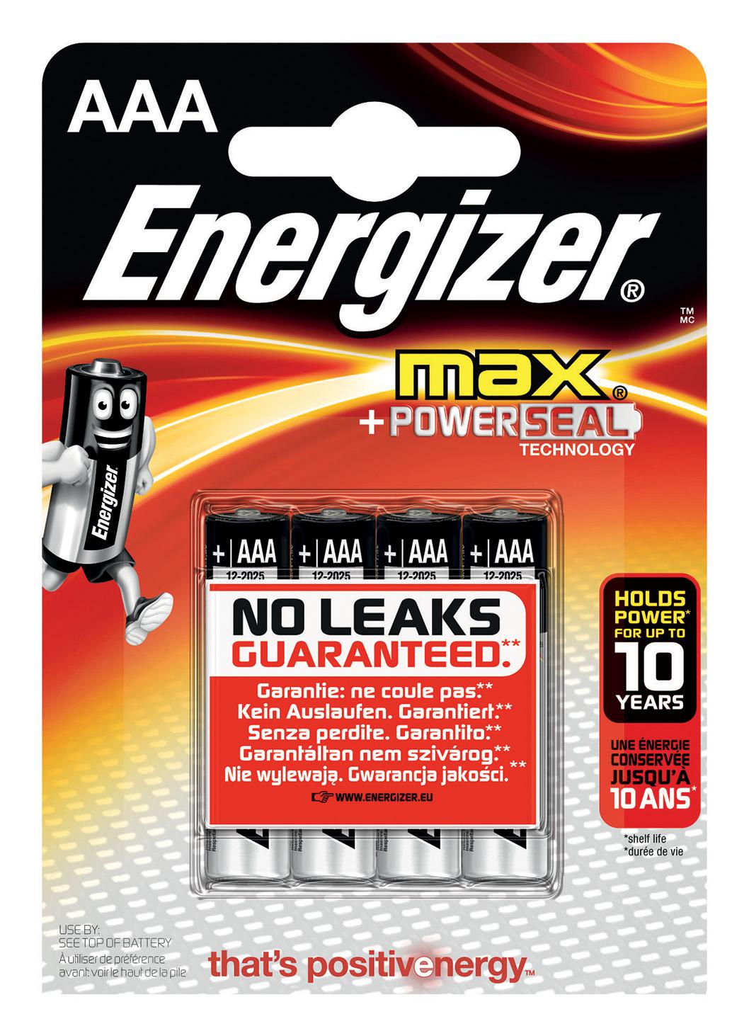 Energizer Max AAA Batteria monouso Mini Stilo AAA Alcalino