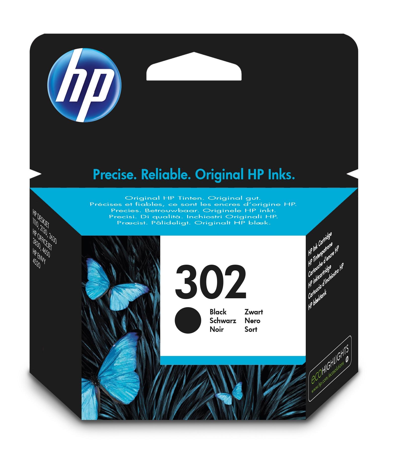 HP 302 1 pezzo(i) Originale Resa standard Nero