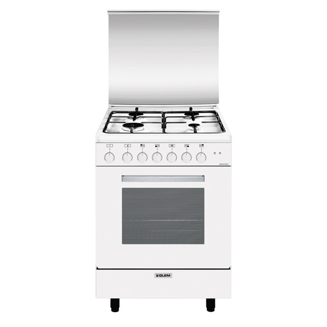 Glem Gas A664MX6 cucina Piano cottura Bianco A