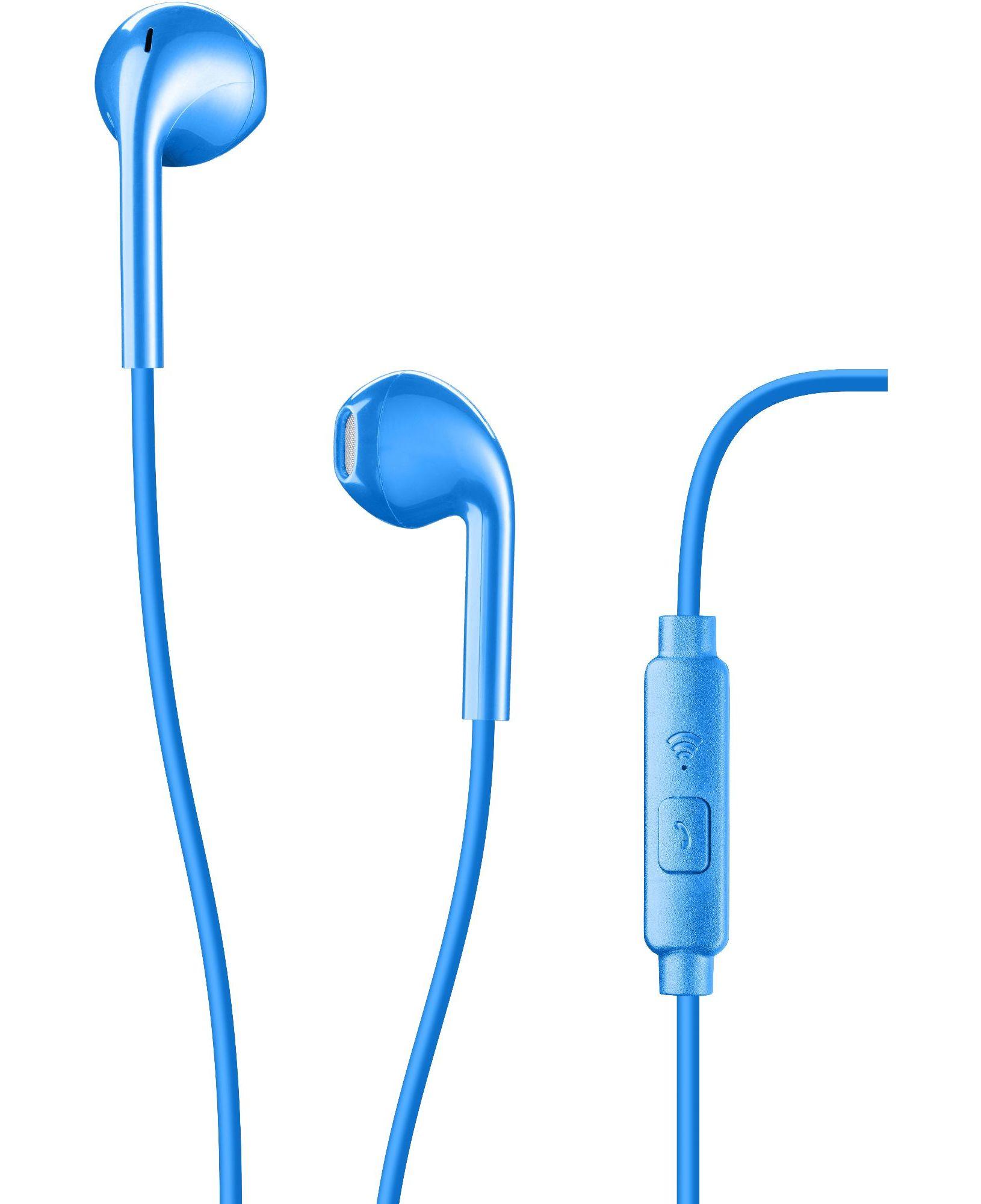 Cellularline Live - Universale Auricolare pump bass a capsula ovale Blu
