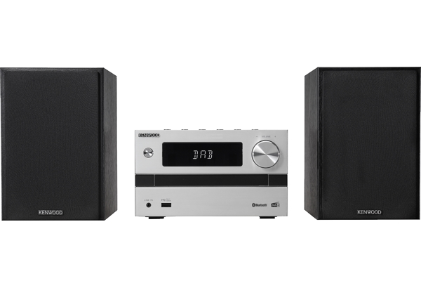 Kenwood M-720DAB set audio da casa Microsistema audio per la casa Nero, Argento 25 W