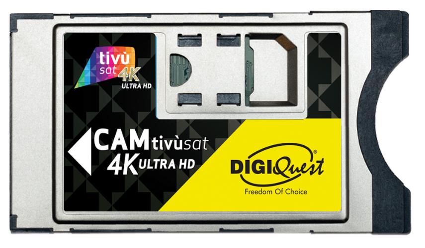 Digiquest Cam Tivùsat 4K Ultra HD Modulo di accesso condizionato (CAM)