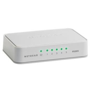 Netgear FS205 Non gestito Bianco