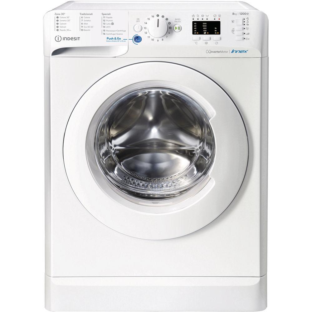 Indesit BWA 81284X W IT N lavatrice Caricamento frontale 8 kg 1200 Giri/min C Bianco