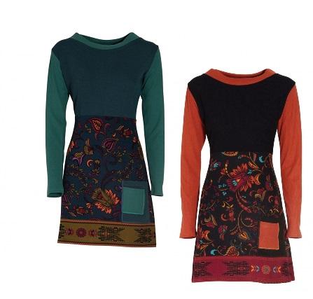 Robe courte imprimée pour femme | Vêtements Baba Design