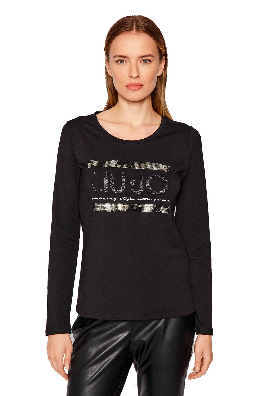 T-shirt Girocollo con Strass