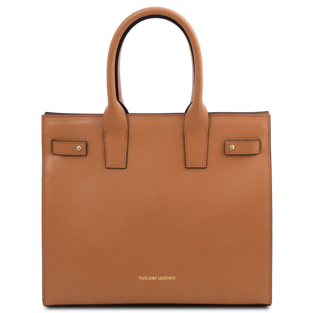 Tuscany Leather TL141933 Catherine Borsa a mano in pelle Cognac