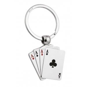 Portachiavi poker d'assi rotante cm.7,5x3,5x1h