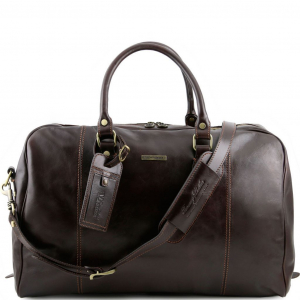 Tuscany Leather TL141218 TL Voyager - Travel leather duffle bag Dark Brown