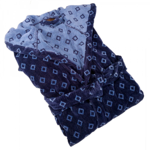 Trussardi bathrobe with hood DANDY blue terry - various sizes