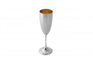 Calice vino in argento sterling 925, con interno oro