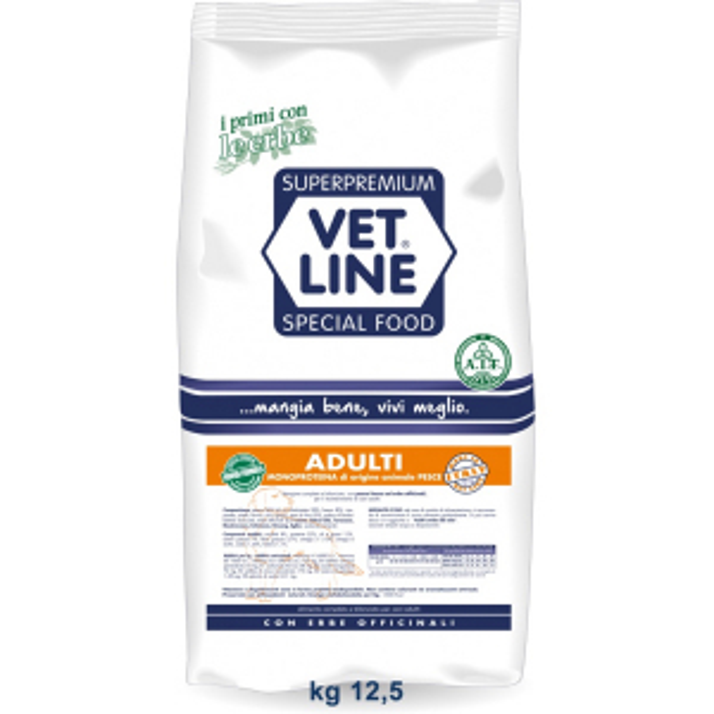 Vet Line Adulti pesce All Breeds 12,5   kg