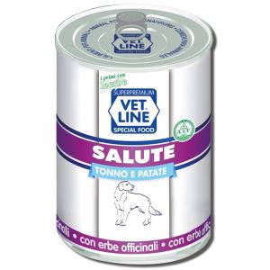 Mangime umido Salute tonno con patate 400 gr Vet Line