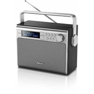 Philips AE5020B/12 radio Portatile Digitale Nero, Argento