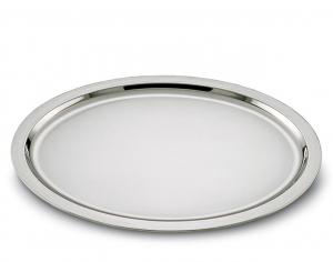 Vassoio ovale placcato argento stile Cardinale