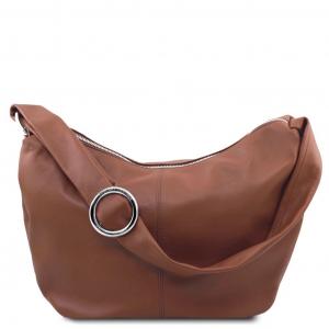Tuscany Leather TL140900 Yvette - Borsa hobo in pelle morbida Rosa
