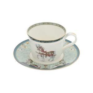 set 2 tazzine caffe' in porcellana New Bone China Hervit