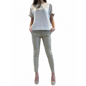 VERY SIMPLE BLUSA RIGHE COTONE