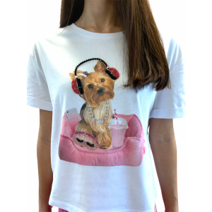 VERY SIMPLE T-SHIRT STAMPA CAGNOLINO