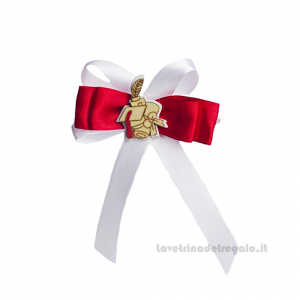 Red and White Bow close package with Touch in wood 3.1 inc - Graduation decorations