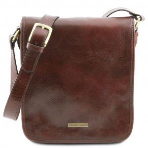 Tuscany Leather TL141255 0 TL Messenger - Two compartments leather shoulder bag