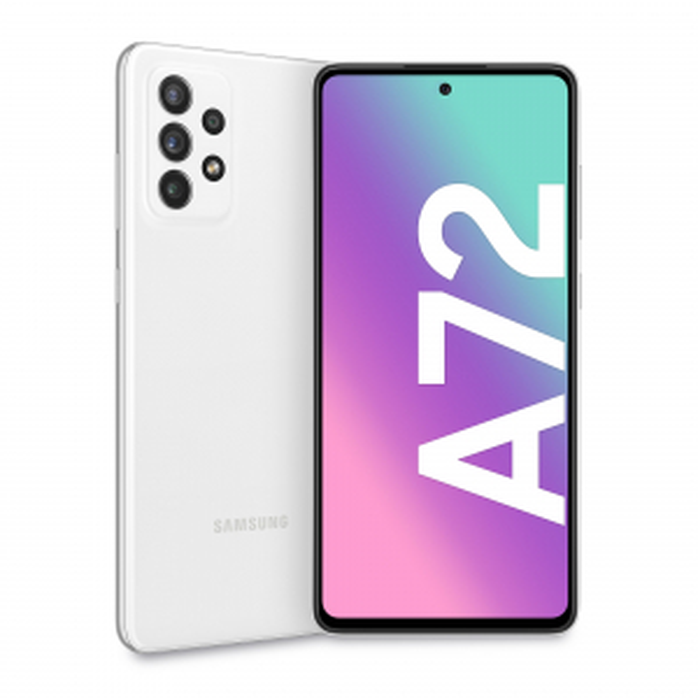"Samsung Galaxy A72 128 GB Display 6.7"" FHD+ Super AMOLED Awesome White"