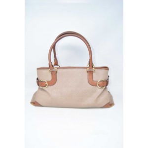 Borsa Donna Salvatore Ferragamo Marrone Beige Made In Italy - AU-21/4906 35 X 22