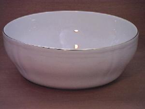 HOME Insalatiera Porcellana Alba Gold Cm 26 Coppe Coppette E Ciotole